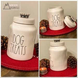 New Rae Dunn-DOG TREATS-with Crown Top!